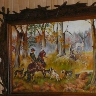 Obraz z drewnianą ramką
