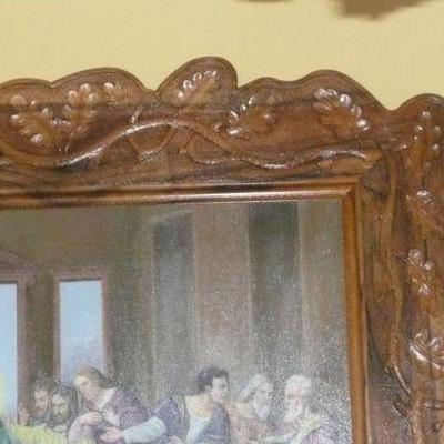 Lustro z drewnianą oprawą